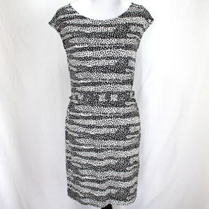 Banana Republic Dress Sz S Black White Sleeveless